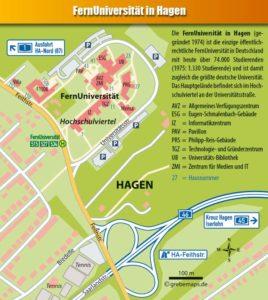 Fernuniversität Hagen, Ortsplan, Stadtplan, Hagen, Hochschulviertel, Anfahrtskarte, Anfahrtsplan, Anfahrtsskizze, Lageplan, Anfahrtsbeschreibung, Wegbeschreibung, grebemaps, Hagen, Karte, Ulrich Grebe Verlag