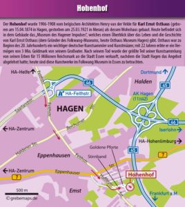 Hohenhof, Karte, Stadtplan, Ortsplan, Hagen, Anfahrtskarte, Anfahrtsplan, Anfahrtsskizze, Lageplan, Anfahrtsbeschreibung, Wegbeschreibung, grebemaps, Hagen, Karte, Ulrich Grebe Verlag